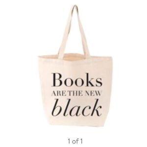 """Books are the New Black"" Canvas Tote Bag"